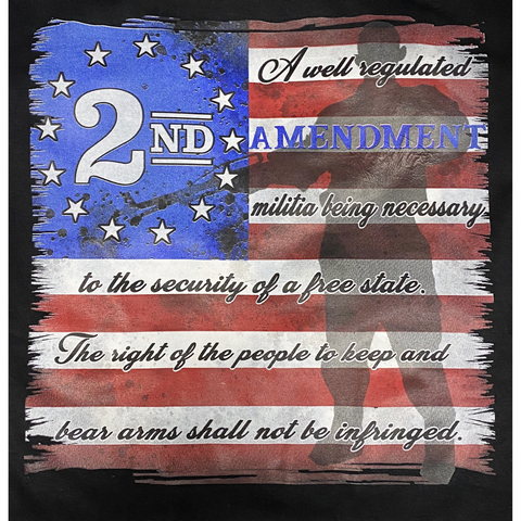 "2nd Amendment Shirts Black ""2nd Amendment"" Short Sleeve T-Shirt 41680"