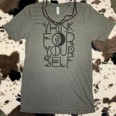 Benita Ceceille Heather Green The Free Thinker T- Shirt FRETHNK-GN