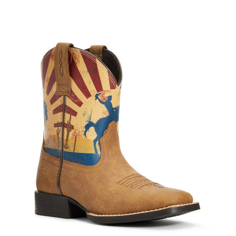Ariat® Children's Dinero Tan & Sunset Scene Western Boots 10034063
