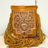 American Darling Brown Cowhide With Leather Crossbody ADBG256TAW