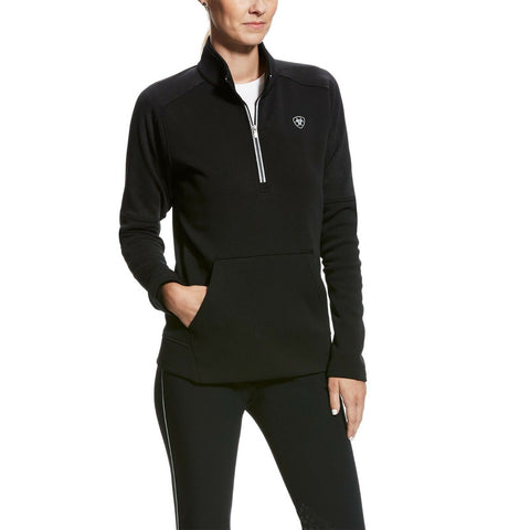 Ariat© Ladies Sonar 1/2 Zip Black Reflective Sweatshirt 10023791 - Wild West Boot Store