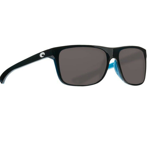 Costa Anaa Shiny Black & Light Blue Polarized Sunglasses ANA 97 OSCP