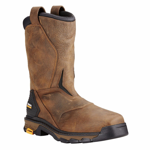 Ariat 174 Intrepid Rye Brown Square Composite Toe H2o Work