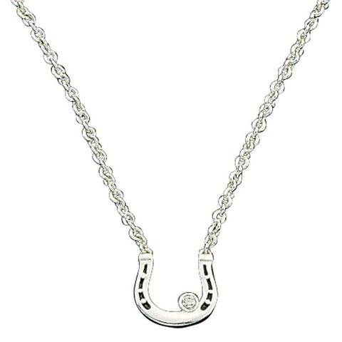 Montana Silversmiths Small Horseshoe with Crystal Necklace NC61132