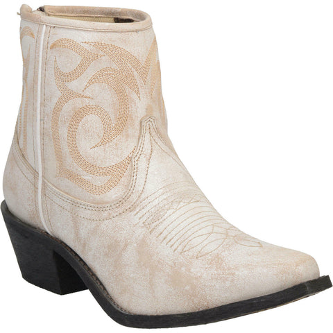 Laredo Ladies Tempest Off-White Leather Booties 3179