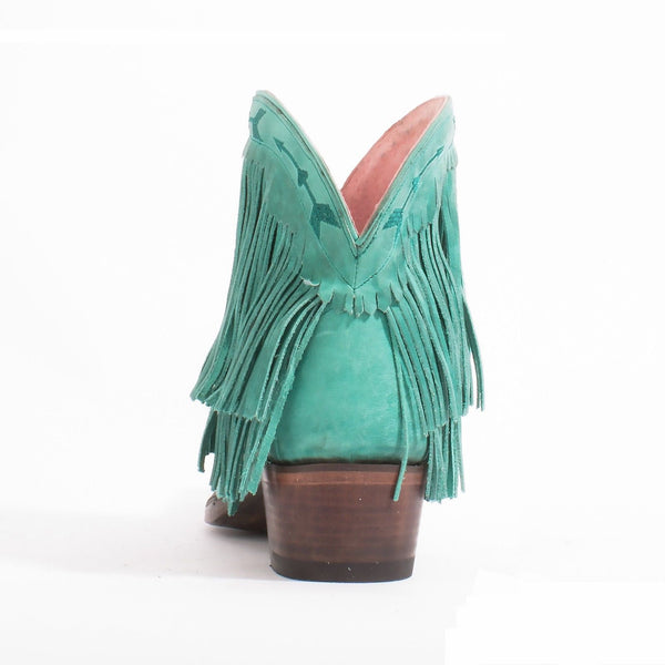 Junk Gypsy By Lane Spitfire Turquoise Fringe Bootie
