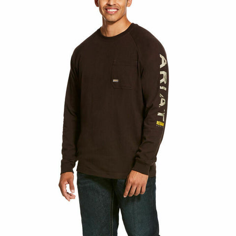 Ariat® Men's Ganache Brown Rebar Cotton Strong T-Shirt 10027902