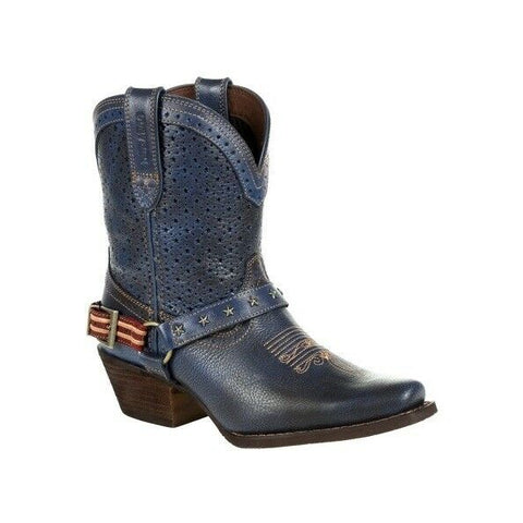 Durango Ladies Crush Blue Ventilated Shortie Western Boot DRD0374