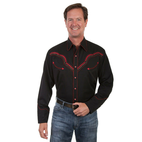 Scully Men's Black Thunderbird Shirts P-867