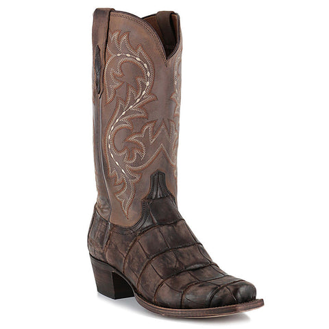 Lucchese Men's Burke Giant Alligator Cafe/Chocolate Boot M3195.74 - Wild West Boot Store - 1