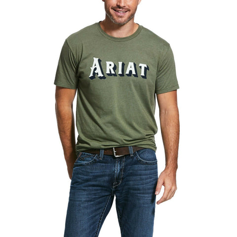 Ariat® Men's Military Heather Drop Shadow Short Sleeve Shirts 10032528