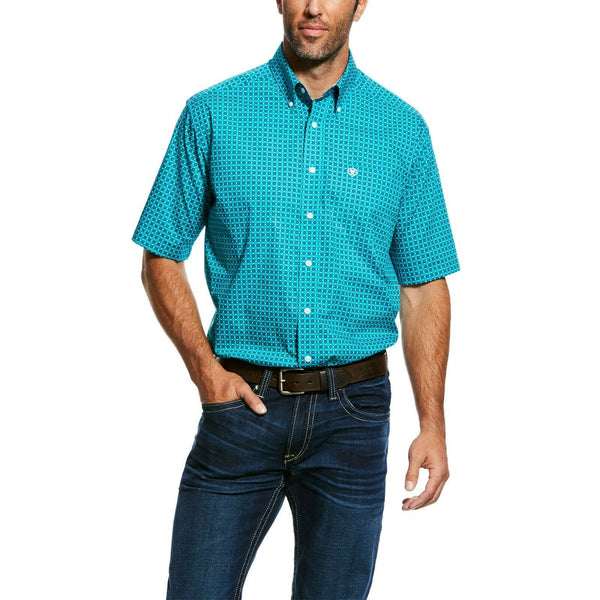 Ariat® Men's Viridian Green Wrinkle Free Donnelly Shirts 10026538