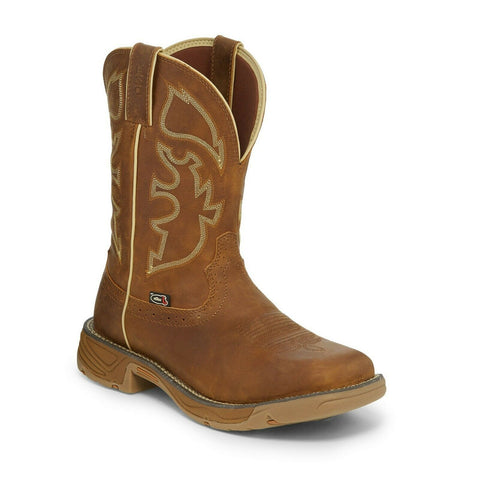 Justin Men's Stampede Rush Rustic Tan Boot WK4330
