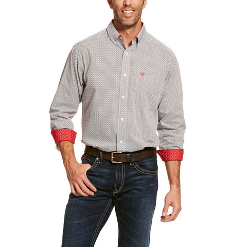 Ariat® Men's Gray Clearly Classic Long Sleeve Shirt 10028736