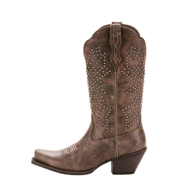 Ariat® Ladies Lakyn Grey Crinkled Studded Boots 10025135