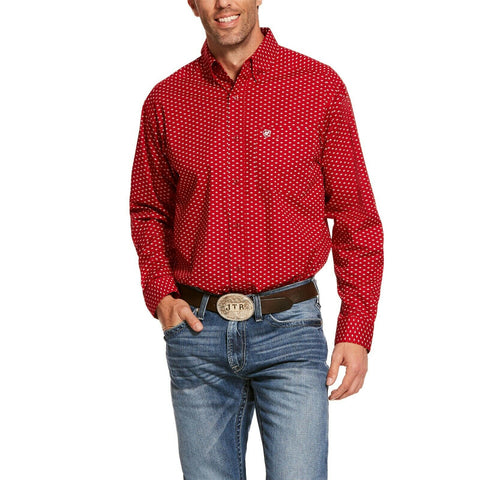 Ariat® Men's Cranberry Crimson Stretch Classic Shirt 10028824