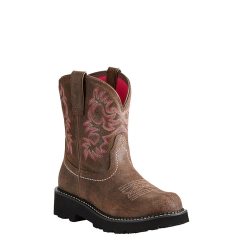Ariat Ladies Fatbaby Dark Barley Brown Leather Boots 10021484 - Wild West Boot Store