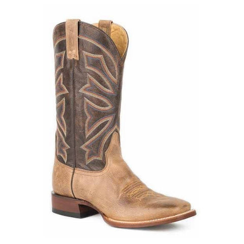 Stetson Men's Brown Gunsmoke Wide Square Toe Boot 12-020-8839-0388 - Wild West Boot Store