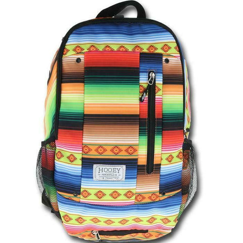 Hooey Rockstar Black & Serape Print Backpack Bag BP022SP