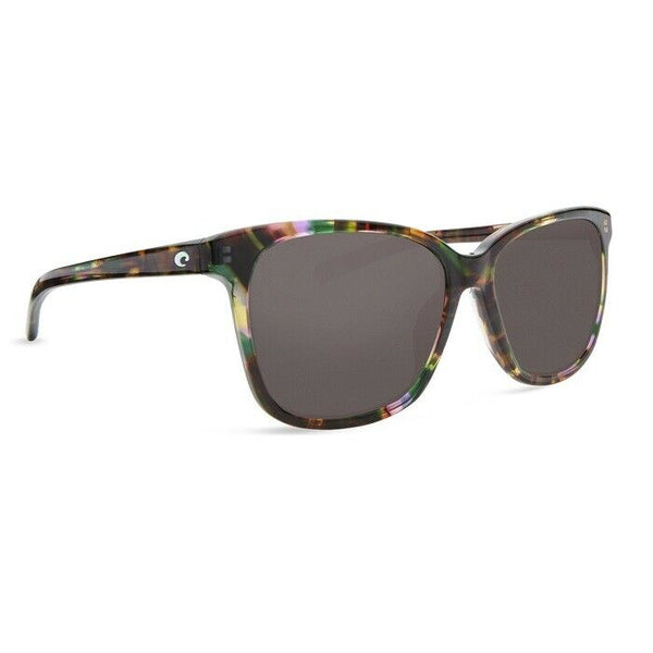 Costa May Shiny Abalone Polarized Gray Glass Sunglasses MAY 208 OGGLP