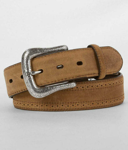 Ariat Men's Brown Perforated Leather Belt A10004667