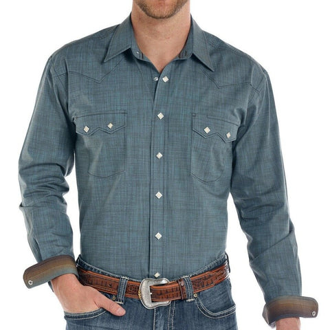 Panhandle Men's Rough Stock Trinity Iridescent Slub Shirt R0S8413