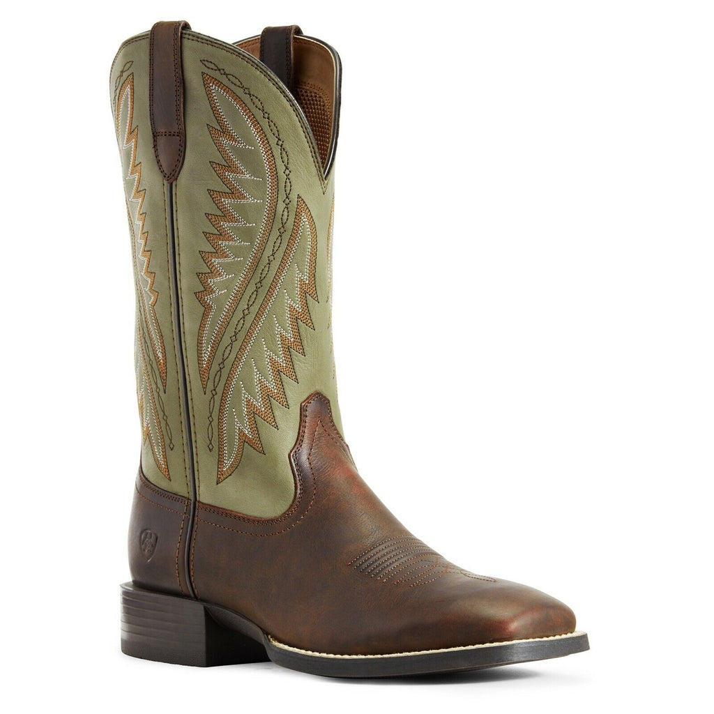 Ariat® Men's Sport Stonewall Barley Brown Olive Green Boots