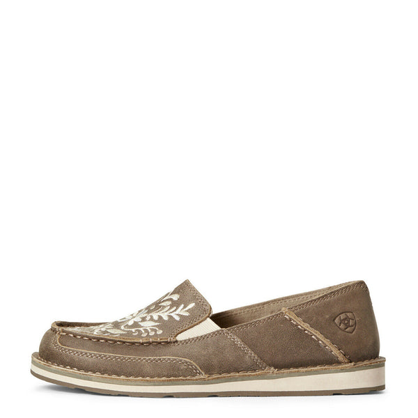 Ariat® Ladies Brown Bomber Embroidered Cruiser Shoe 10034098