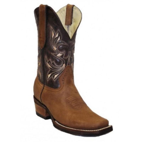 RockinLeather Ladies Dark Brown Narrow Square Toe Western Boot 2133 - Wild West Boot Store