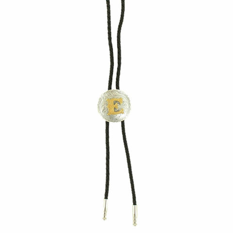 M&F Western Double S Men's Initialed Bolo Tie 22164