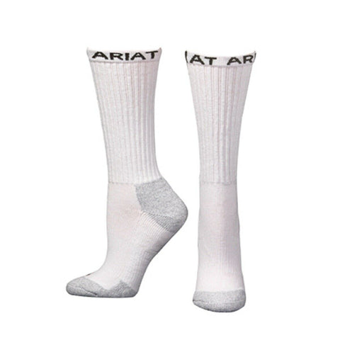 Ariat Men's White 6- Pack Crew Boot Socks A2503205