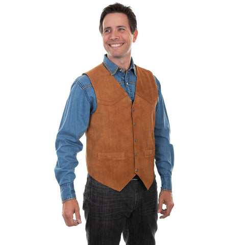 Scully Men's Rust Snap Front Vests 507-212