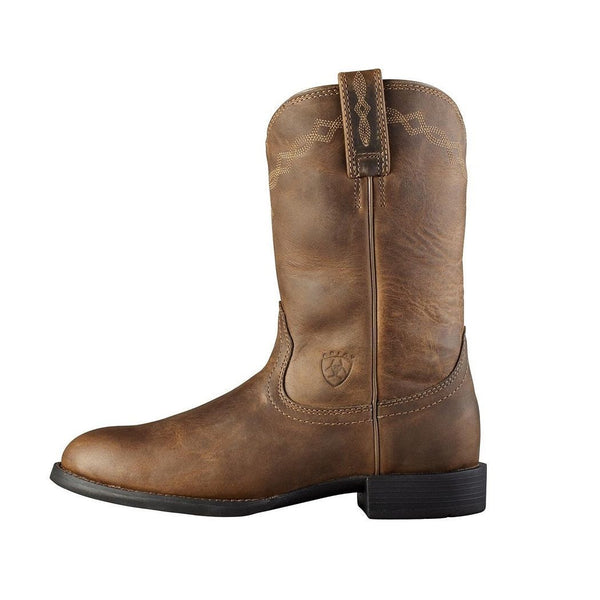Ariat® Ladies Heritage Roper Distressed Brown Boot 10000797 - Wild West Boot Store