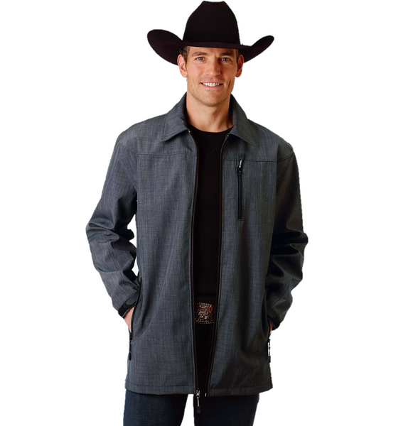 Roper Men's Grey Soft Shell Mesh Lined Barn Jacket 03-097-0791-0760