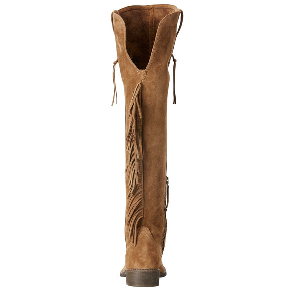 Ariat® Ladies Farrah Fringe Dirty Tan Suede Over Knee Boots 10021588 - Wild West Boot Store