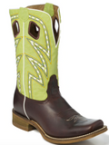 Nocona Men's Dark Brown And Green Volcano Boots NB5502