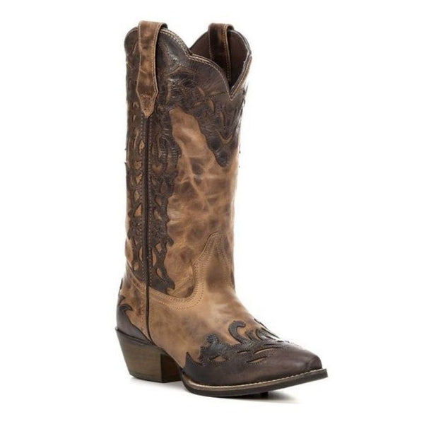 Rawhide by Abilene Ladies Two Tone Tan/Brown Wingtip Boot 5026 - Wild West Boot Store