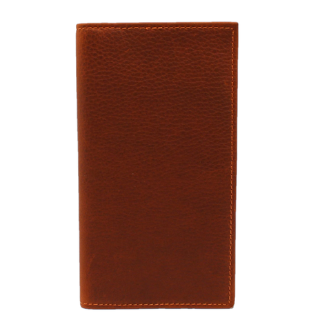 3D Men's Pebbled Brown Leather Rodeo Wallet DWCW142