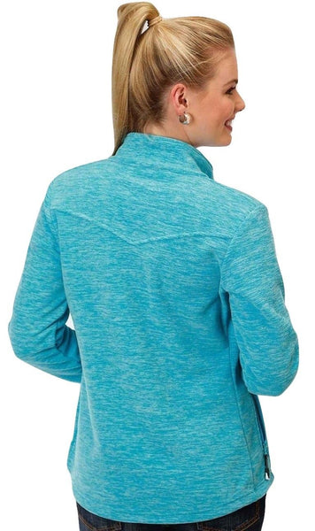Roper Ladies Cationic Turquoise Micro Fleece Jacket 03-098-0692-0624