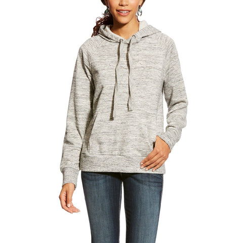 Ariat© Ladies REAL Heather Grey Logo Hoodie Sweatshirt 10024281 - Wild West Boot Store