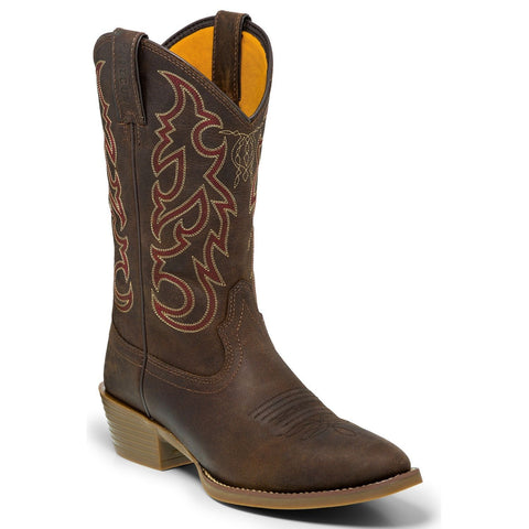 Justin Men's Dierks Dusk Brown Pull-On Western Boots 2570 - Wild West Boot Store