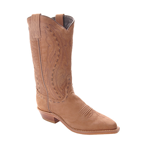 Abilene Ladies Brown Nubuck Cowhide Western Boots 9021