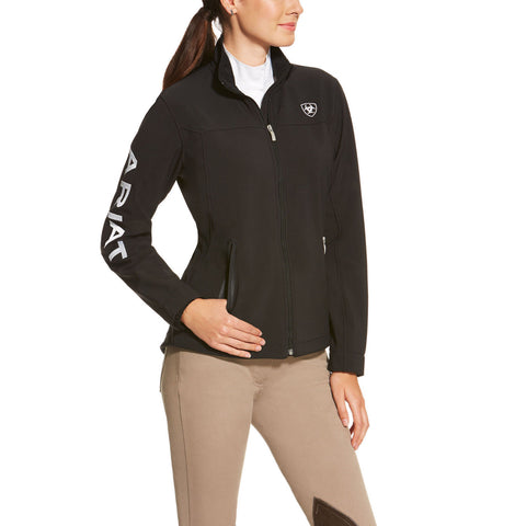 Ariat® Ladies New Team Black Softshell Full-Zip Jacket 10019206 - Wild West Boot Store