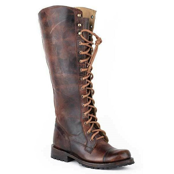 "Stetson Ladies Winter Brown 16"" Shaft Lace-Up Boots 12-021-7107-1402"