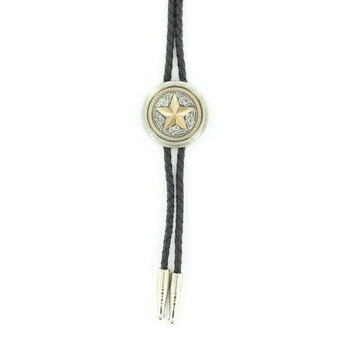 Double S Western Round Star Slide Bolo Tie 22611