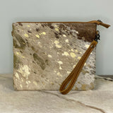 American Darling Brown, White, and Gold Cowhide Crossbody ADBG109ACGO