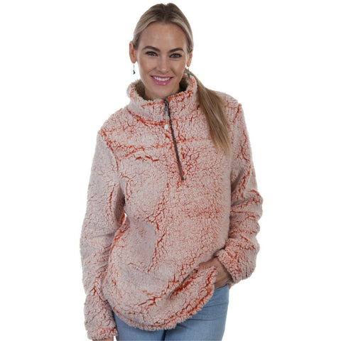 Scully Ladies Tangerine Sherpa Pullover HC337-TGN