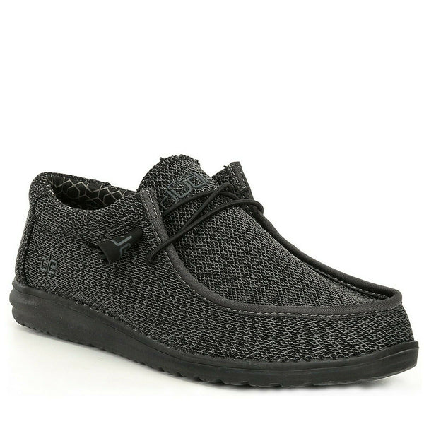 Hey Dude Men's Wally Sox Micro Total Black Shoes 150204942