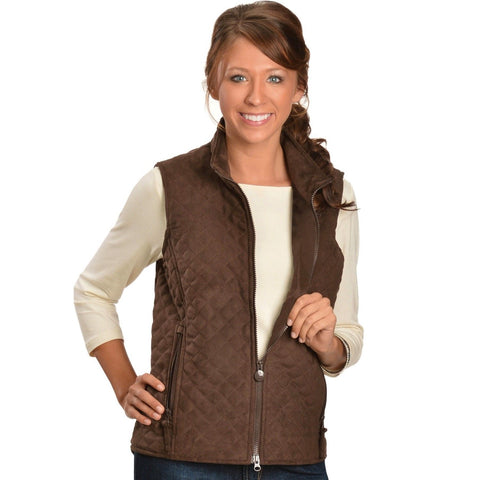 Outback Trading Ladies Wilona Brown Vest 29640-BRN