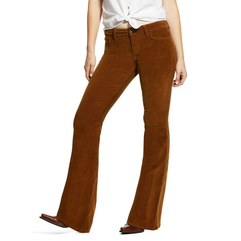 Ariat® Ladies Corduroy Flare Dijon Yellow Jeans 10032467